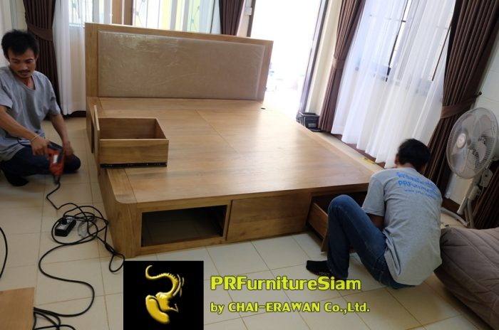 B32-Teak Bed with 5 Drawers (19)