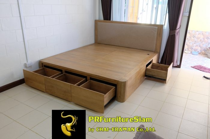 B32-Teak Bed with 5 Drawers (20)
