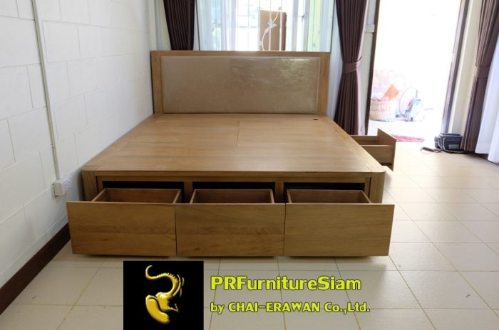 B32-Teak Bed with 5 Drawers (25)