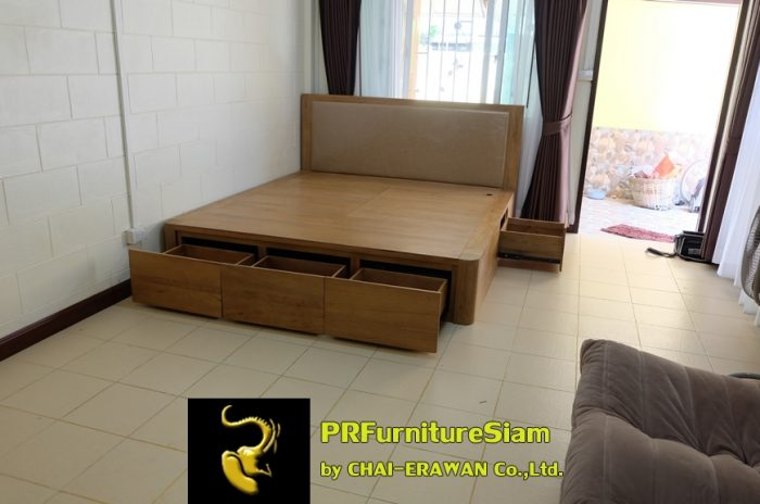 B32-Teak Bed with 5 Drawers (26)