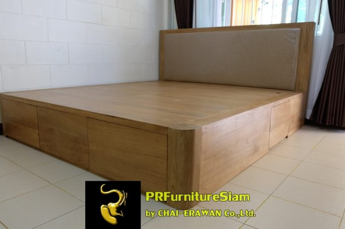B32-Teak Bed with 5 Drawers (37)