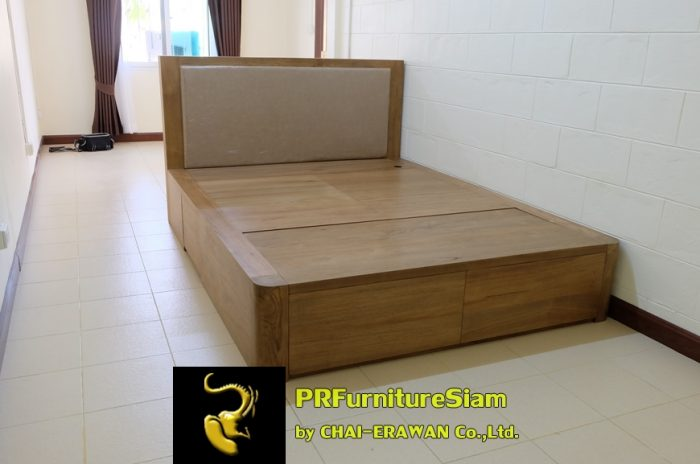 B32-Teak Bed with 5 Drawers (8)