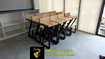 Solarcon Teak Bar Table and Chair Installation (3)