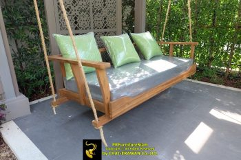 Teak Swing with Pillows Khun Damrongsit (13)